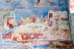 Frescoes in the church of Hagia Sophia stock photography