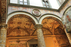 Frescoes decoration in Palazzo Vecchio. Florence, Italy Royalty Free Stock Photography