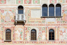 Frescoes on the Exterior Wall of the Castle of Spilimbergo Stock Photography