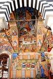 Frescoes från kloster av St John av Rila Royaltyfria Bilder