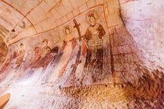 Frescoes Goreme Cappadocia Royalty Free Stock Photography