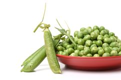 Frescoes green green peas and freshly reaped Stock Image