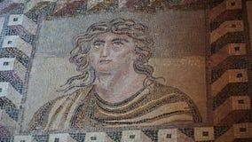 Frescoes i det arkeologiska museet av Paphos Cypern arkivbilder