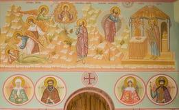 Frescoes i kyrkan av Treenighet (den TreenighetSkete byn, den Nizhny Novgorod regionen) fotografering för bildbyråer