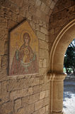 Frescoes at Ialyssos Monastery Rhodes Royalty Free Stock Photo