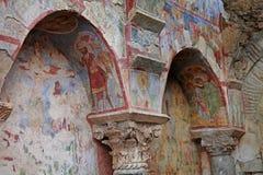 Frescoes kościół St Nicholas Zdjęcia Royalty Free