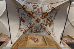 Frescoes in Madonna del Sasso basilica in Locarno Royalty Free Stock Photography