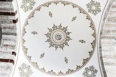 Frescoes malowali na suficie w Muzułmańskiej świątyni w Turcja fotografia stock