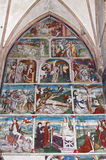 Frescoes in Maria Schnee pilgrimage church, Austria Stock Photos