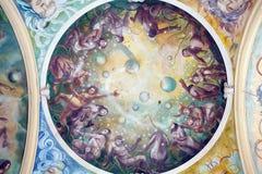 Frescoes, Marianske lazne Spa. Czech Republic Stock Images