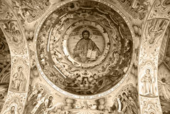 Frescoes from the Monastery of St. John of Rila Stock Photography