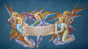 Frescoes in the Monastery of St. Theodora Stock Photography