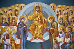 Frescoes in the Monastery of St. Theodora Stock Photo