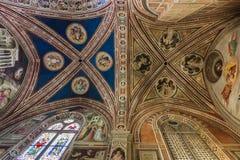 Frescoes na suficie bazylika Santa Croce w Florencja, Obraz Royalty Free
