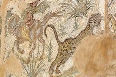 Frescoes på fördärvar av Carthage arkivbild