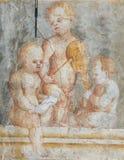 Frescoes på fallet Cazuffi-Rella i Trento - änglar arkivbild