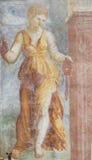 Frescoes på fallet Cazuffi-Rella i Trento - absolutism Arkivfoton