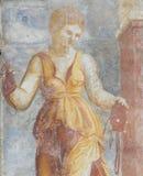 Frescoes på fallet Cazuffi-Rella i Trento - absolutism Arkivbilder