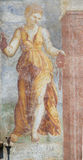 Frescoes på fallet Cazuffi-Rella i Trento - absolutism Royaltyfria Bilder