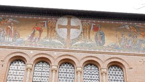 Frescoes Parrocchia Santa Croce. Rome, Italy stock video