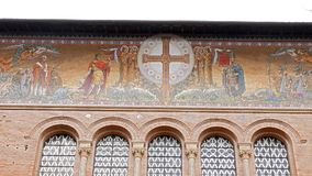 Frescoes Parrocchia Santa Croce. Rome, Italy stock video footage