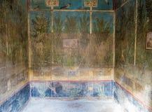 Frescoes in Pompeii, Italy Royalty Free Stock Photo