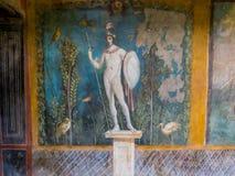 Frescoes in Pompeii, Italy Stock Photo
