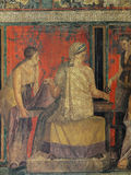 Frescoes in Pompeii ruines, Naples, Italy Royalty Free Stock Photography