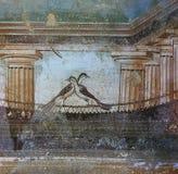 Frescoes in Pompeii ruines, Naples, Italy Stock Image