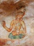 Frescoes przy Sigiriya Fotografia Royalty Free