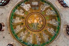 Frescoes in Ravenna Royalty Free Stock Image