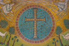 Frescoes in Ravenna Royalty Free Stock Photos