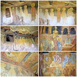 Frescoes in Rock-Hewn Churches of Ivanovo Royalty Free Stock Images