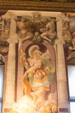 Frescoes in the Sala dell`Udienza in the Palazzo Vecchio, Florence, Italy. royalty free stock photo
