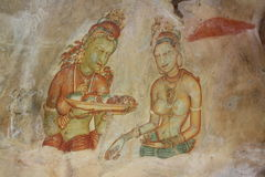 Frescoes Sigiriya Стоковые Изображения RF