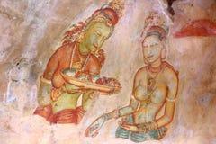 Frescoes Sigiriya (lew skała) Zdjęcia Royalty Free