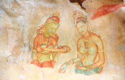 Frescoes Sigiriya (lew skała) Obraz Stock