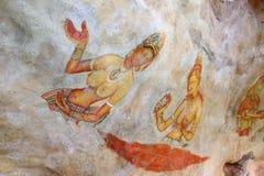 Frescoes of Sigiriya (Lion Rock ) Royalty Free Stock Images