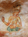 Frescoes at Sigiriya. Sri Lanka. Frescoes at Sigiriya, Sri Lanka Royalty Free Stock Photography