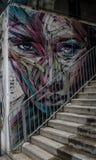 Frescoes on the streets of Hong Kong, China. royalty free stock image