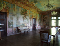 The frescoes in summer manor, Europe Royalty Free Stock Image