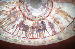 Frescoes In Tomb Of Thracian King. Detail of fresco in the tomb of a thracian king, Kazanlak - Bulgaria Royalty Free Stock Photography