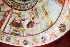 Frescoes In Tomb Of Thracian King. Kazanlak, Bulgaria Stock Images