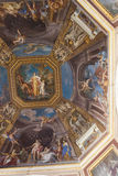 Frescoes Vatican Museum - Rome. A ceiling renaissance fresco on a cupola in Vatican Museum room, in Rome Stock Images