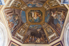 Frescoes Vatican Museum - Rome. A ceiling renaissance fresco on a cupola in Vatican Museum room, in Rome Royalty Free Stock Photo
