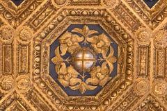 Frescoes w Sala dell ` Udienza w Palazzo Vecchio, Florencja, Włochy fotografia stock