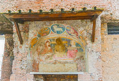 Frescoes on the wall, Rome, Italy. Royalty Free Stock Images