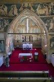 Frescoes we wnętrzu gothic kościół Obraz Stock