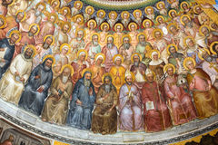 The frescos in Baptistery of Duomo or The Cathedral of Santa Maria Assunta by Giusto de Menabuo Royalty Free Stock Photography