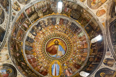 The frescos in Baptistery of Duomo or The Cathedral of Santa Maria Assunta by Giusto de Menabuoi 1375-1376. Padua Royalty Free Stock Photography